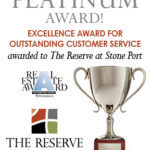 The Reserve at Stone Port Won Outstanding Customer Service Excellence Award!