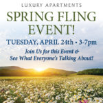 Spring Fling Event!   April 24th from 3-7pm