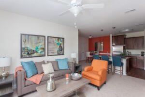 Harrisonburg Apartments with open floor plan